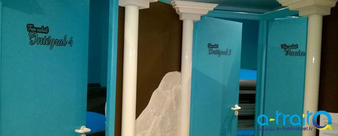 Marquage murs et portes en adhésif