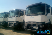 Marquage adhésif flotte de camions TFTP