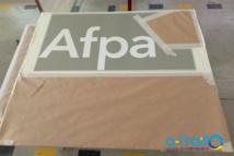 Panneau métal pour la signalétique de l'AFPA. Bègles (33)