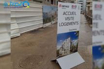 Panneau signalétique accueil client Eiffage Immobilier - Emerige. Clamart (92)