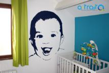 """Adhésif mural """"visage"""""""