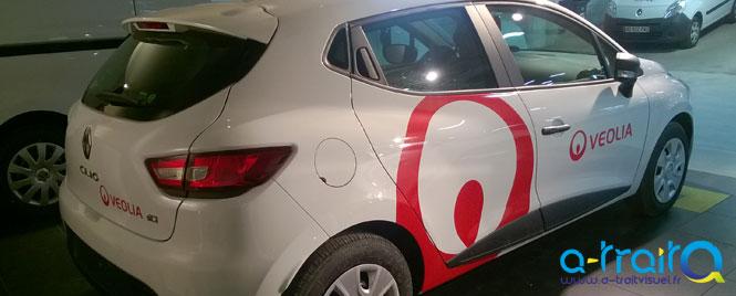 Marquage Véolia sur Renault Clio