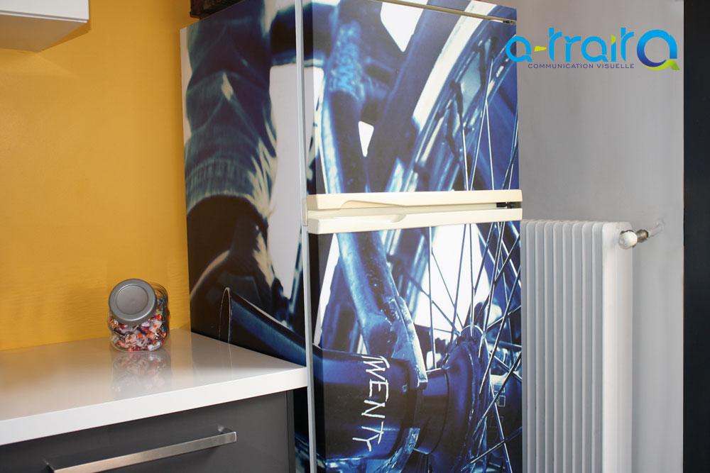Habillage d'un réfrigérateur