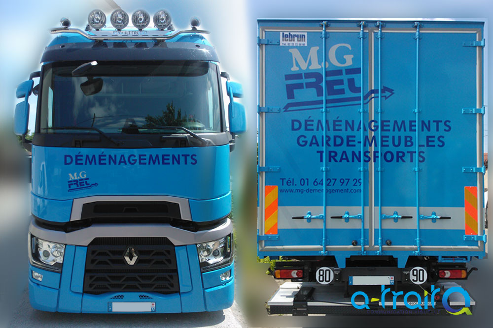 Marquage poids lourd Renault T Hight