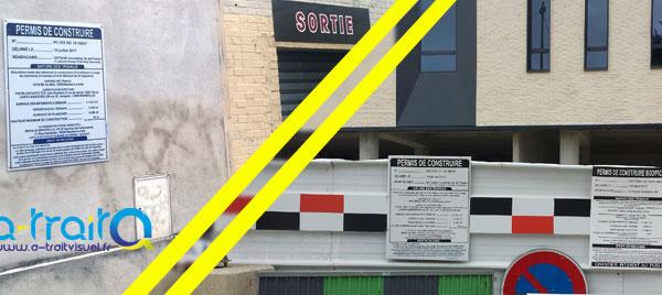 """EIFFAGE Immobilier -  Panneaux """"Permis de construire / modificatif"""" - Mantes la Jolie"""